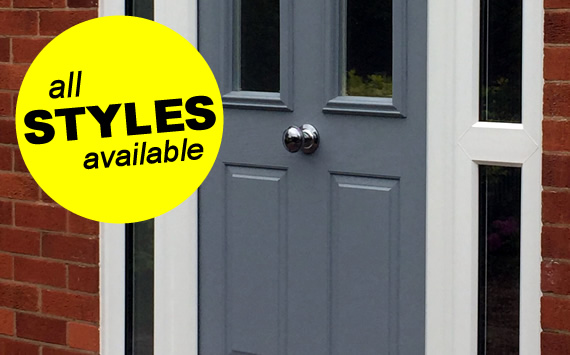 Supplied and fitted composite doors