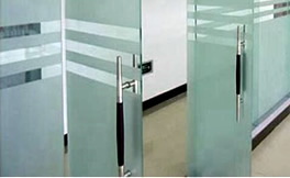 Tempered safety glass doors