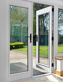 uPVC French Doors with Black Handles