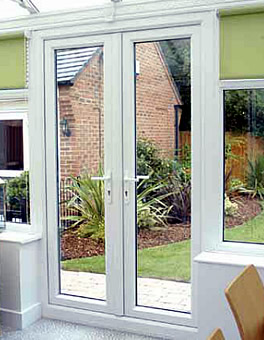 uPVC French Doors with Gold Handles