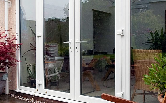 External white French doors
