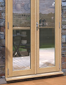 uPVC French Doors finished in Oak