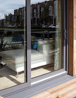 Grey uPVC Patio Doors